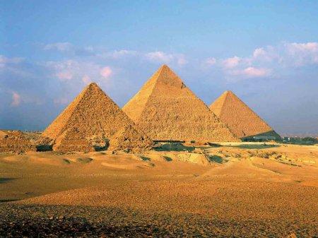 Пирамиды в Гизе.